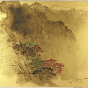 "19 Song Wenzhi Green Mountain with Red Trees note 45 x 53 cm 19941 290x290 - ""Mountains and Rivers – Chinese Landscape on a Multi-Dimensional Level "" was unveiled in Sanya"