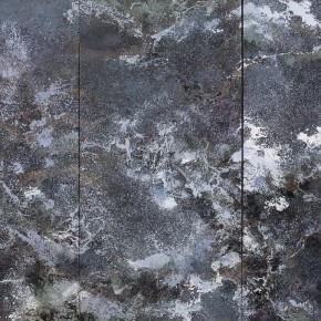 22 Hong Ling, Pine Fog in the Dark Night, oil on canvas, 300 x 150 cm x 3, 2015