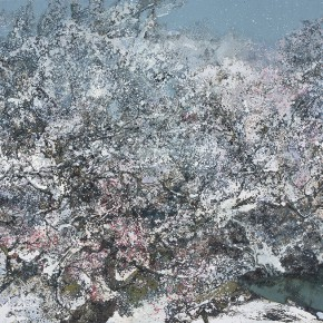 23 Hong Ling, Jade-Like Snow in the Spring, oil on canvas, 160 x 250 cm, 2014