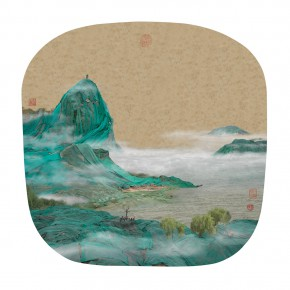 "24 Yao Lu Dongting Lake in the Early Spring 120 x 120 cm 20081 290x290 - ""Mountains and Rivers – Chinese Landscape on a Multi-Dimensional Level "" was unveiled in Sanya"