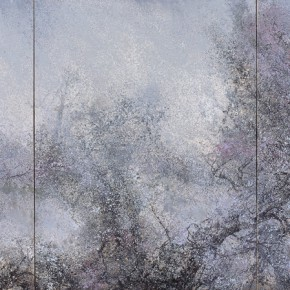26 Hong Ling, The Deep Emptiness, oil on canvas, 250 x 190 cm x 3, 2014