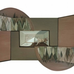 26 Liu Yujie Curve 2015 Oil on canvas 150x400cm 290x290 - Dimension and Trajectory – Liu Yujie solo exhibition was unveiled at Amy Li Gallery