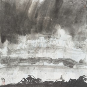 32 Hong Ling, Ink Painting No.3, ink on paper, 67 x 67 cm, 2014