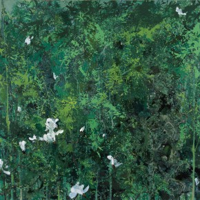 44 Hong Ling, The Solidification of Green, oil on canvas, 180 x 150 cm, 2011