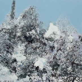 45 Hong Ling, Fast Snow, oil on canvas, 150 x 250 cm, 2011