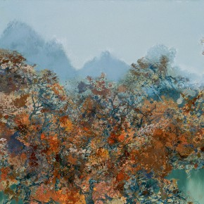 46 Hong Ling, Drunk in the Rime Forest, oil on canvas, 100 x 160 cm, 2011