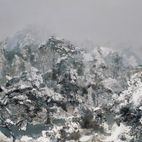 47 Hong Ling, Nature of Mount Huangshan, oil on canvas, 200 x 300 cm, 2011