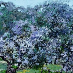 48 Hong Ling, Spring Fog, oil on canvas, 50 x 100 cm, 2010