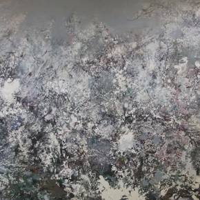 49 Hong Ling, Song of the Heaven, oil on canvas, 180 x 500 cm, 2009