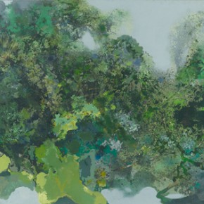 54 Hong Ling, Green Fog and Refreshing Breeze, triptych, 250 x 750 cm, 2002
