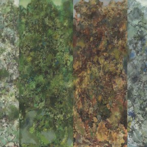 55 Hong Ling, Spring, Summer, Autumn and Winter, oil on canvas, 150 x 55 cm x 4, 2001