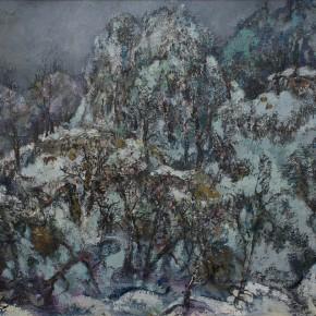 60 Hong Ling, Silver Snow, 80 x 100 cm, 1993