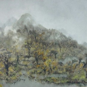 61 Hong Ling, Misty and Rainy Xiaoxiang, 130 x 170 cm, 1993