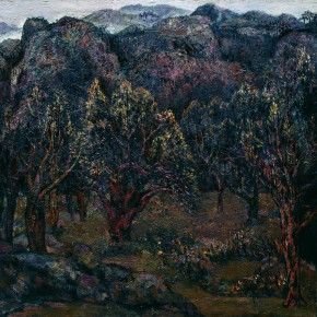 64 Hong Ling, Wild Mountain, oil on canvas, 180 x 190 cm, 1988