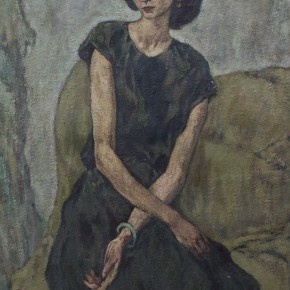 70 Hong Ling, Portrait of a Woman, oil on canvas, 130 x 90 cm, 1986