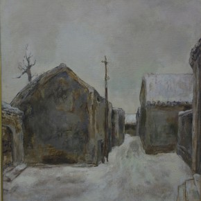 71  Hong Ling, Hutong Series No.4, oil on canvas, 70 x 80 cm, 1986