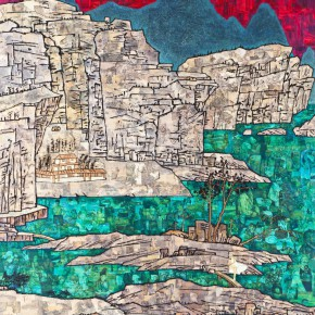 """Xue Song Landscape Dialogue with Hongren 2013 Mixed media on canvas 240x180cm 290x290 - ShanghART Singapore announces Xue Song's solo show titled """"The Mountain Echoes"""" opening January 22nd"""
