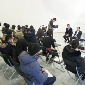01 View of the press conference of the exhibition 290x290 - Subverting the Vision of Landscape: Insight – The Solo Exhibition of Wang Yizhou Opened at Today Art Museum