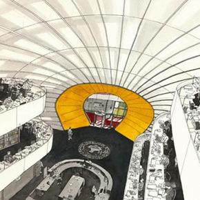 Goethe-Institut Hong Kong presents the interpretation of German library buildings and urban culture in drawings by Fabio Barilari