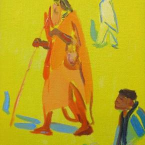 01 Shi Yu, A Wise Man No.3, oil on canvas, 25 x 18 cm, 2013