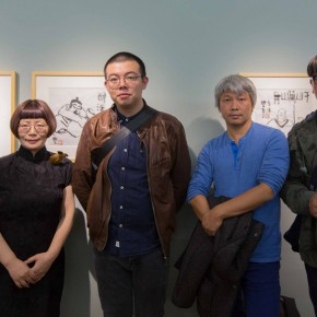 "02 Artists Feng Mengbo Dong Huiping Zhu Sha Han yan and Lu Yue from the left 290x290 - ""My Left Hand – Zhu Xinjian"" Exhibition & the Launch of the First Volume of The Complete Works of Zhu Xinjian Landed at Gauguin Gallery"