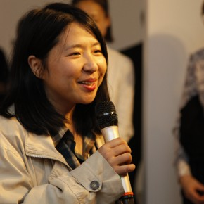 03 Paris-based artist Yao Qingmei spoke at the opening ceremony