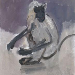 03 Shi Yu, Shiva No.1, oil on canvas, 25 x 18 cm