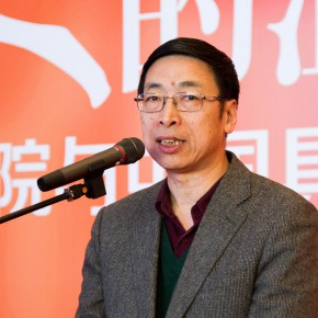 "04 Exhibition curator and secretary general of the academic committee Yin Shuangxi addressed the opening ceremony 290x290 - ""The Temperature of History"" Opened at Shandong Art Museum with Representational Oil Paintings Warming the Earth of Shandong"