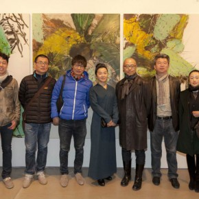 "04 Opening ceremony of ""Boundless Growth – Exhibition of Kang Lei's Works "" – Group photo of honored guests 290x290 - With a Spreading Posture: Boundless Growth – Exhibition of Kang Lei's Works Warmly Kicked Off at Today Art Museum"