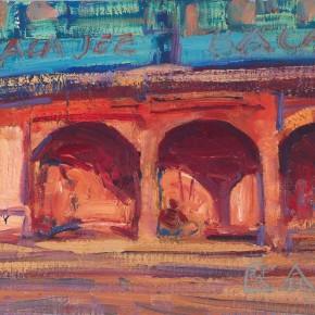 05 Shi Yu, Red Castel, oil on canvas, 18 x 25 cm, 2013