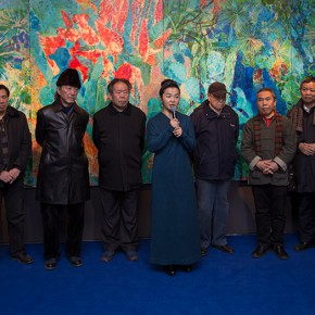 "06 Opening ceremony of ""Boundless Growth – Exhibition of Kang Lei's Works "" – Group photo of honored guests 290x290 - With a Spreading Posture: Boundless Growth – Exhibition of Kang Lei's Works Warmly Kicked Off at Today Art Museum"