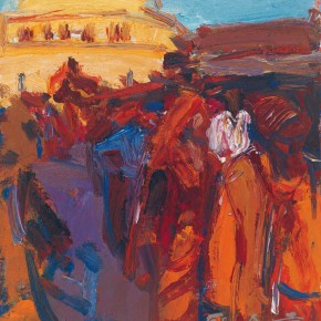 06 Shi Yu, People of the Ganges River No.5, oil on canvas, 25 x 18 cm, 2013