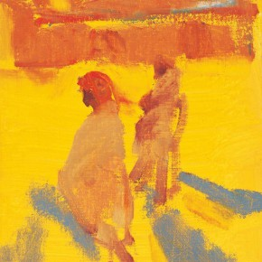 09 Shi Yu, People of the Ganges River No.2, oil on canvas, 25 x 18 cm, 2013