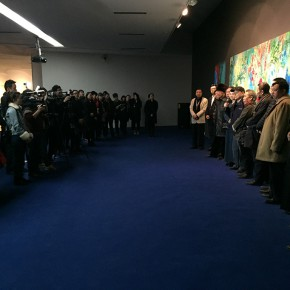 "10 Opening ceremony of ""Boundless Growth – Exhibition of Kang Lei's Works ""  290x290 - With a Spreading Posture: Boundless Growth – Exhibition of Kang Lei's Works Warmly Kicked Off at Today Art Museum"