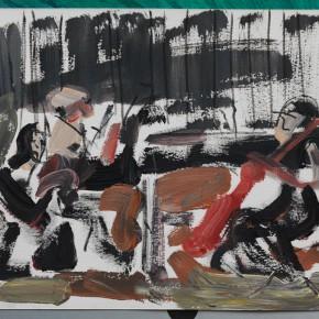 11 Shi Yu, Duet No.15, acrylic on paper, 20 x 30 cm, 2015