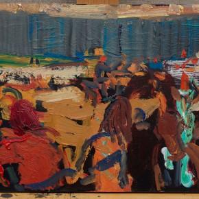 12 Shi Yu, Duet No.14, oil on board, 20 x 30 cm, 2015
