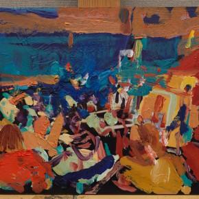 13 Shi Yu, Duet No.12, oil on board, 20 x 30 cm, 2015