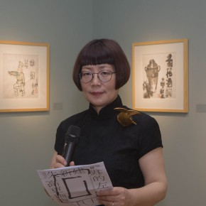 "14 Artist and Exhibition Coordinator Associate Professor Dong Huiping 290x290 - ""My Left Hand – Zhu Xinjian"" Exhibition & the Launch of the First Volume of The Complete Works of Zhu Xinjian Landed at Gauguin Gallery"
