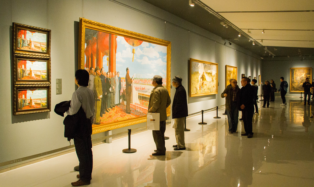 the temperature of history opened at shandong art museum with