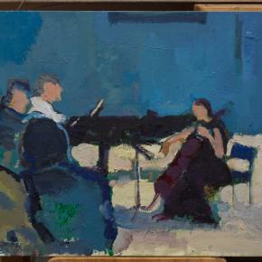 14 Shi Yu, Duet No.11, oil on board, 30 x 40 cm, 2015