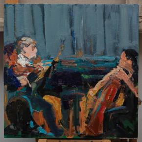 16 Shi Yu, Duet No.9, oil on canvas, 50 x 50 cm, 2015