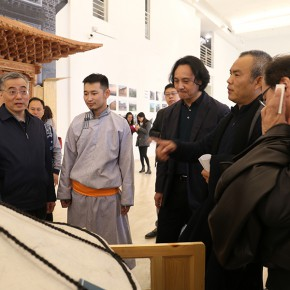 "16 The leaders at all levels visited the work by the student of the residential construction group photo courtesy of Zhang Dongping 290x290 - Heritage for the Nation, Innovation for Life: The 2nd CAFA ""Intangible Cultural Heritage Protection and Modern Life Senior Training Class"""