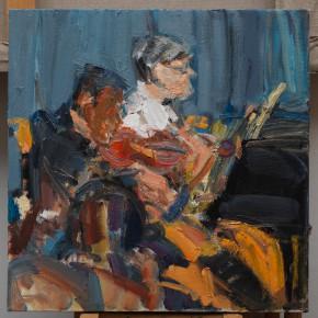 17 Shi Yu, Duet No.8, oil on canvas, 50 x 50 cm, 2015