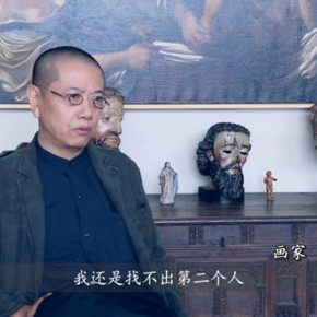 "18 The Video Shown at the Exhibition  290x290 - ""My Left Hand – Zhu Xinjian"" Exhibition & the Launch of the First Volume of The Complete Works of Zhu Xinjian Landed at Gauguin Gallery"