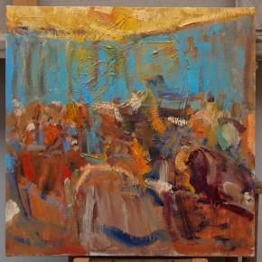 20 Shi Yu, Duet No.5, oil on canvas, 50 x 50 cm, 2015