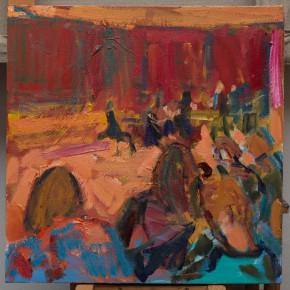 21 Shi Yu, Duet No.4, oil on canvas, 50 x 50 cm, 2015