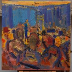 22 Shi Yu, Duet No.3, oil on canvas, 50 x 50 cm, 2015
