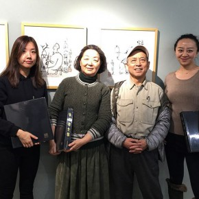 "24 Prof. Sun Jingbo and his wife attended the opening ceremony 290x290 - ""My Left Hand – Zhu Xinjian"" Exhibition & the Launch of the First Volume of The Complete Works of Zhu Xinjian Landed at Gauguin Gallery"