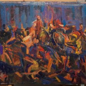 24 Shi Yu, Duet No.1, oil on canvas, 100 x 110 cm, 2015
