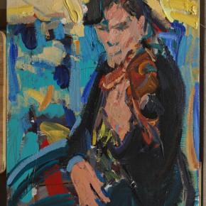 31 Shi Yu, Vibrato of the Devil No.17, oil on board, 40 x 30 cm, 2015